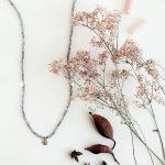 collar agata gris modeditas Stella Sanyer